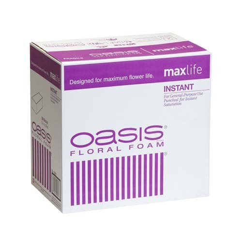 Oasis Instant Standard Floral Foam Bricks - Case of 36 - Maxlife Floral Foam - Wet Floral Foam Bricks for Flower Arranging