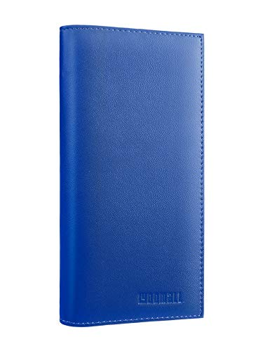 YOOMALL Leather Checkbook & Register Cover Case Slim Wallet Credit Card Holder (Cobalt)