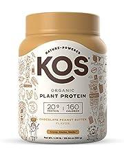 KOS Organic Plant Based Protein Powder – Raw Organic Vegan Protein Blend, 1.3 Pound, 15 Servings