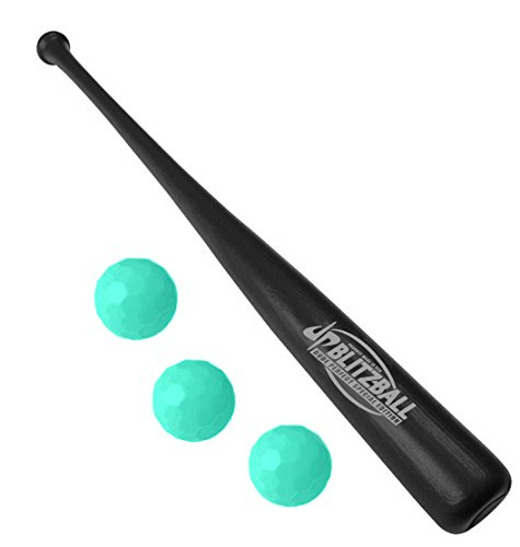Dude Perfect Blitzball Starter Pack - Includes (3) Blitz Balls & 1 Power Bat - Limited Edition by Blitzball