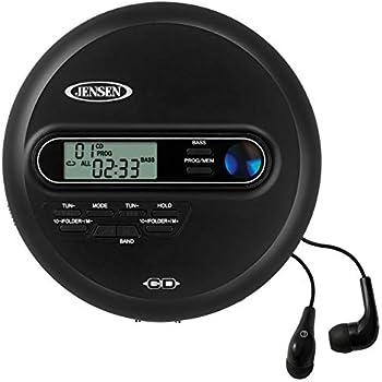 NAXA NPC-320 Slim Personal MP3//CD Player w//100 Second Anti-Shock /& FM Scan Radio