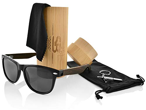 Polarized Bamboo Sunglasses - Eco-Friendly, Made For Men and Women, UV400 Protection, Light weight, free repair tool included - ShoppBoss by ShoppBoss (Image #1)