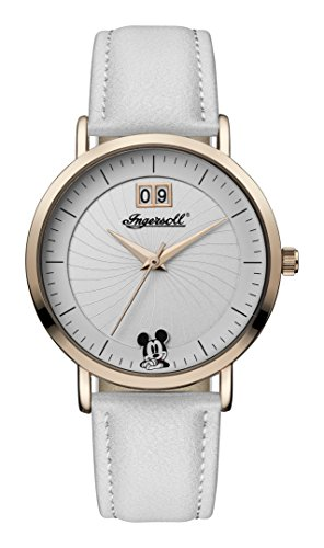 Ingersoll Women's Quartz Stainless Steel and Leather Casual Watch, Color:White (Model: ID00502)