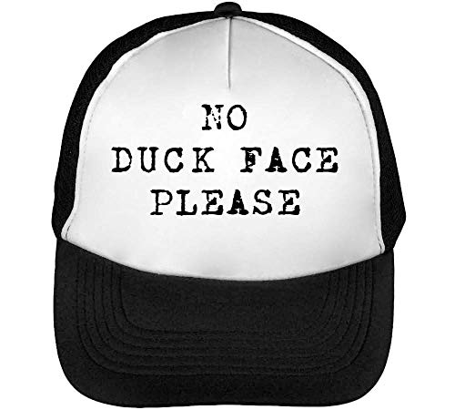 Duck Slogan No Gorras Negro Funny Hipster Hombre Blanco Please Beisbol Snapback dIfxTfqZ