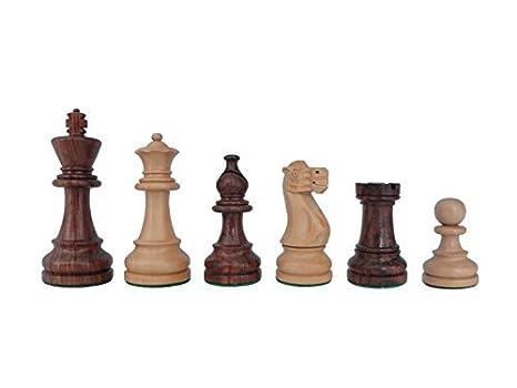 """SchachQueen - primera división piezas de ajedrez de madera de torneo marón/blanco """"American"""
