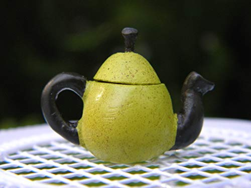 nes and Statues Miniature Dollhouse Fairy Garden Accessories ~ Green Pear Fruit Teapot ~ New ()