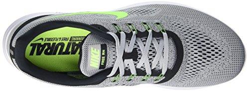 Nike Mænds Fri Rn Afstand Løbesko-rent Platin / Elektrisk Grøn / Antracit-12 Xi1q6