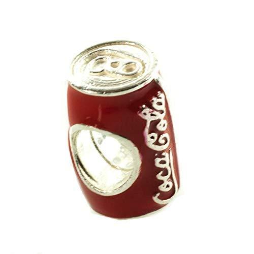 Charm lata Coca Cola Plata de Ley compatible con Pandora: Amazon.es: Handmade