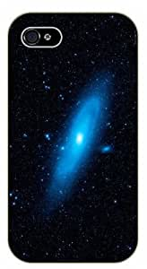 Case For Iphone 4/4S Cover Blue Andromeda galaxy - black plastic case / Space, Stars, Fantasy