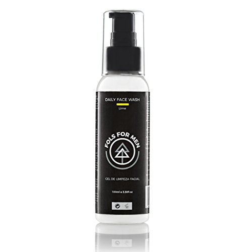 Limpiador-Facial-orgnico-para-hombres-FOLS-For-Men-Para-piel-sensible-y-tratamiento-de-acn-con-ingredientes-naturales-aroma-lima-100-ml