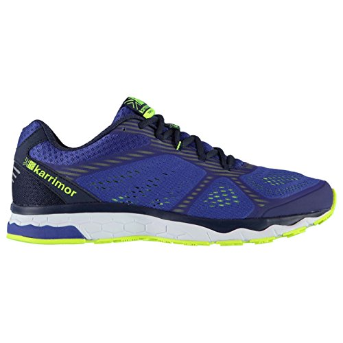 Karrimor Mens Tempo 5 Running Shoes Road Lace Up Breathable Lightweight Mesh Navy/Lime Ul1J4dNUt
