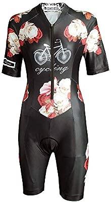 Mujer de Manga Corta Ciclismo Traje de triatlón al Aire Libre ...