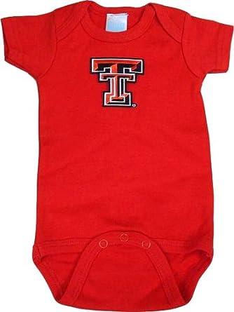Texas Tech Red Solid Short Sleeve Onesie