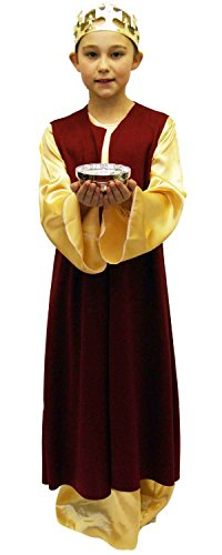 Nativity-Christmas-Bible-World Book Day King/Wiseman Child's Fancy Dress Costume - All Ages (Age 7-8)