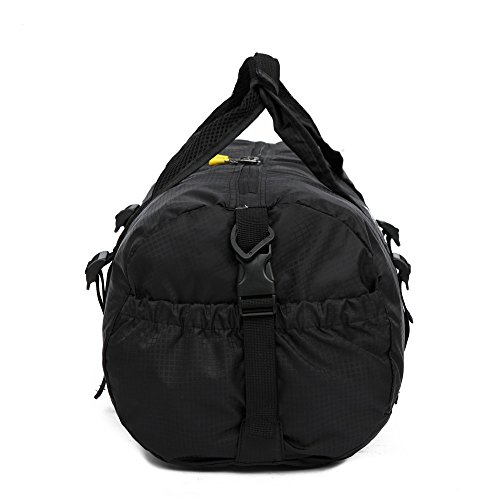MeiLiio Handbags for Women Ultralight Folding Nylon Fitness Bag Gym Yoga Sport Training Bag Hiking Travel Camping Outdoor Handbag for Women Men Kid/Black by MeiLiio (Image #5)