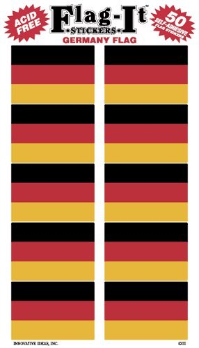 Germany flag stickers for home or school ()