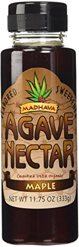 Madhava Flavored Sweetener Agave Nectar Organic Maple -- 11.75 oz