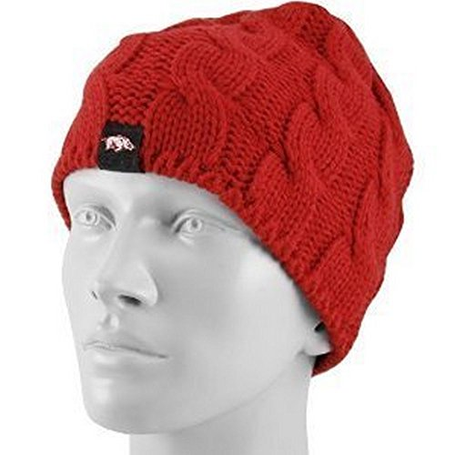 adidas NCAA Officially Licensed Arkansas Razorbacks Women's Beanie Hat Cap Lid