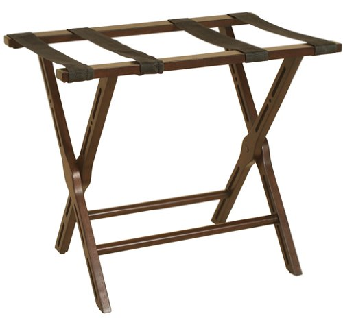 Mahogany Finish Foldable Luggage Rack by Welcome Home Accents