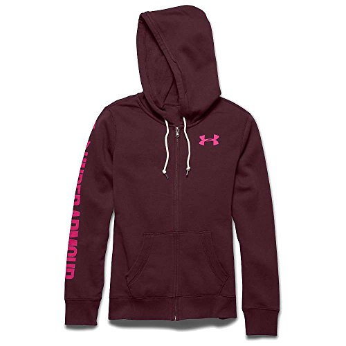 Under Armour Favorite Fleece Full Zip Hoody - Women's Ox Blood / Rebel Pink XS