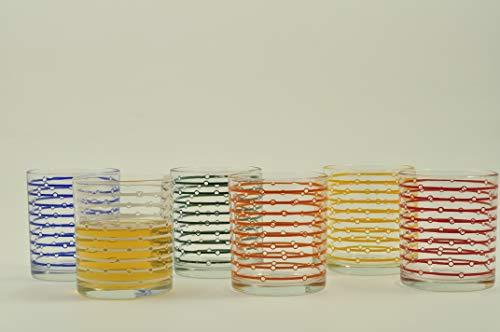 (Italian Decor B2020/1975 6 Pieces Rita Electra Water Glass, Colour - Rainbow)