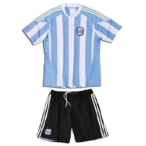 3edfe05ca Youth Argentina World Cup Kids Home Soccer Jersey with shorts Size 30 YXXL  age 12-15 y.o