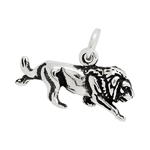 Sterling Silver African Lion Charm (10 x 19 (Silver Lion Charm)