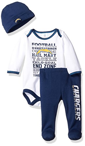NFL Los Angeles Chargers Unisex-Baby Bodysuit, Pant,