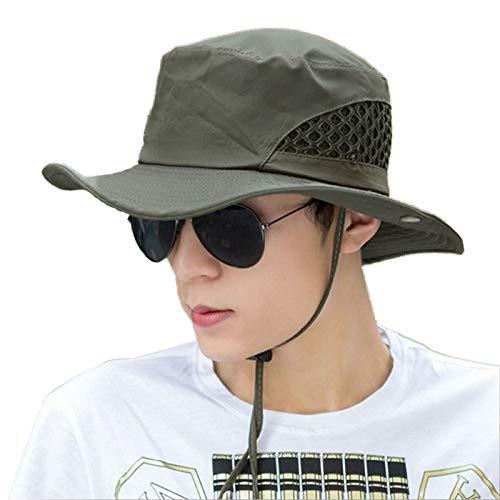 [해외]LeafIn 남성 모자 모자 아웃 도어 피싱 모자 10 갤런 모자 사파리 모자 등산 낚시 여행 봄 여름가을 프리 사이즈 56-58cm / LeafIn Men`s Hat Hat Outdoor Fishing Hat Tengallon Hat Safari Hat Climbing Fishing Excursion Spring Summer Autumn F...