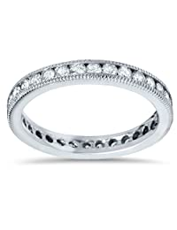 1ct Channel Set Diamond Eternity Ring 14K White Gold