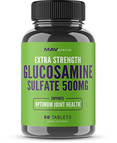 Glucosamine Sulfate Formulized to Aid Support in Optimum Joint & Cartilage Health, Promoting Flexibility, and Providing Anti-Inflammatory Benefits in The Back, Knee, Hip, and Wrist; Non-GMO