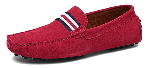 Mocasines Gamuza Casual Pisos Loafers De Zapatillas Eagsouni® Hombres 1rojo Zapatos Conducción fqdwBFS