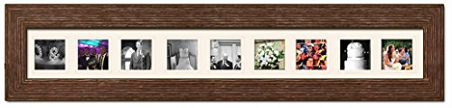 Rustic Brown Matted Instagram Collage Photo Frame - Nine 4