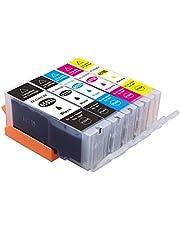 Myink Compatible Canon 650xl 651xl Ink Cartridges, PGI-650 XL Cli-651 XL Ink Replacement for Canon PIXMA MG5460 MG5560 MG6360 MG6460 MG7160 MG7260 IP7260 IP8760 IX6860 MX726 MX926 Printer(5-Pack)