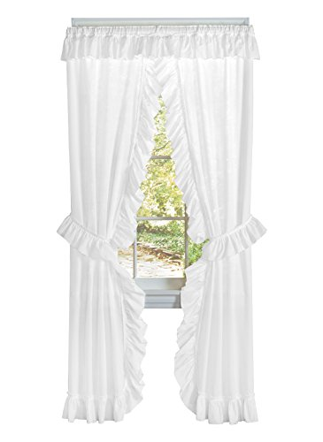 Carol Wright Gifts Ruffled Priscilla Curtain Set, White ()