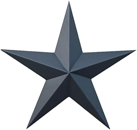 24 Inch Solid Black Barn Star Made