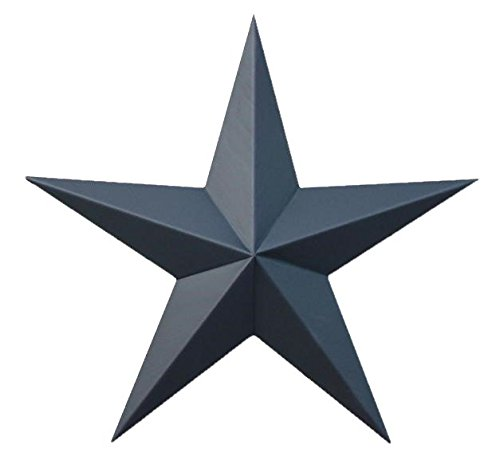 AMISH WARES 72 Inch Solid Black Galvanized Metal Tin Painted Barn Star Farmhouse Country Decor Rust Resistant Outdoor Decor ()