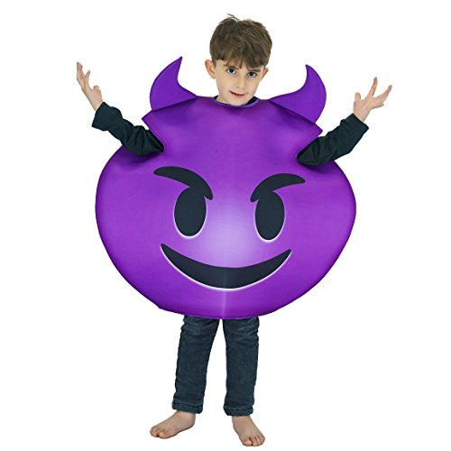 Purple Devil Costumes (flatwhite Children Unisex Emoticon Costumes One Size)