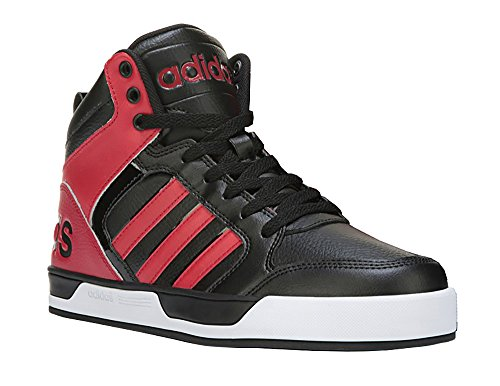 adidas-neo-mens-raleigh-mid-lace-up-shoe-11-dm-us-black-red-black