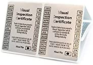 Visual Inspection Stickers Certificate for Scuba Diving Cylinders 10 pcs