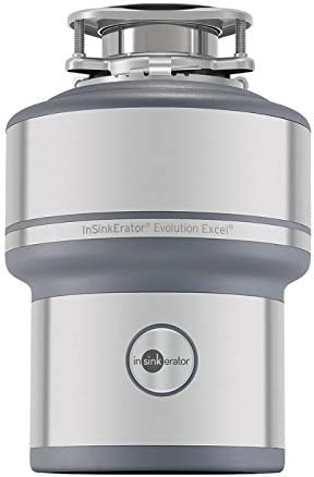 Insinkerator Garbage Disposal Evolution Excel 1 0 Hp Continuous Feed Food Waste Disposers Amazon Com