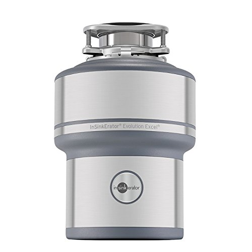 InSinkErator Garbage Disposal, Evolution Excel, 1.0 HP Continuous - Stainless Silencer
