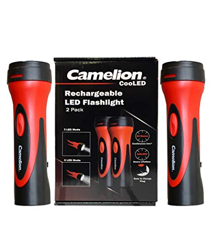 (Camelion 6 LED Plug in Rechargeable Emergency Blackout Flashlight- up to 24 hours of continuous lighting (2 count))