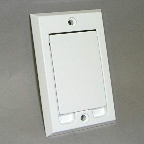 6 Pack of HAYDEN Central Vacuum Wall Inlets - White Square Door 1700-01 Vac Hose Outlet