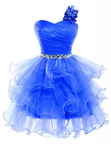 Grace Karin® Women One Shoulder Organza Evening Prom Dress CL4589-5