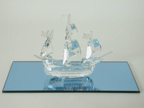 Swarovski Crystal Figurine SANTA MARIA SHIP w mirror 7473NR000003 PERFECT Box