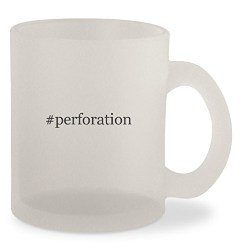 #perforation - Hashtag Frosted 10oz Glass Coffee Cup Mug (Blade Tours Silver)