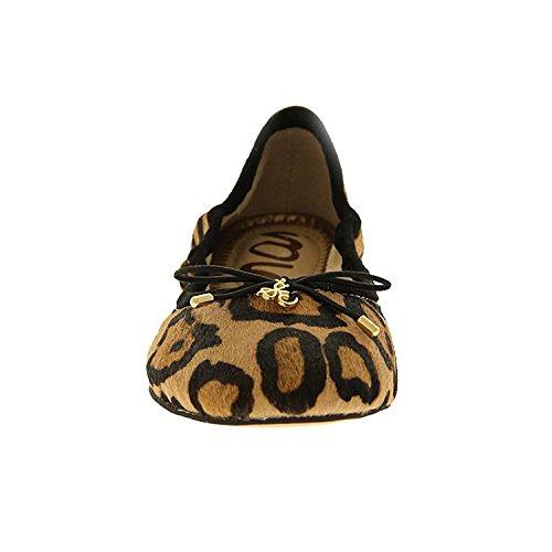 Sam Edelman Kvinna Felicia Balett Platt Nya Naken Leopard