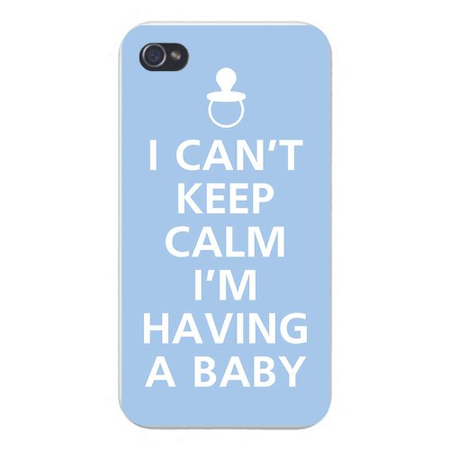 Apple Iphone Custom Case 5 5s Snap on - I Can't Keep Calm I'm Having A Baby w/ Pacifier