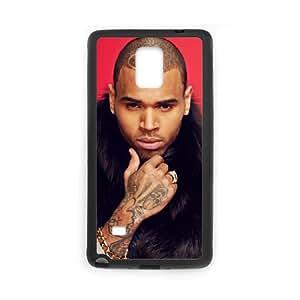 Chris Brown 2 funda Samsung Galaxy Note 4 caja funda del teléfono celular del teléfono celular negro cubierta de la caja funda EEECBCAAJ09845